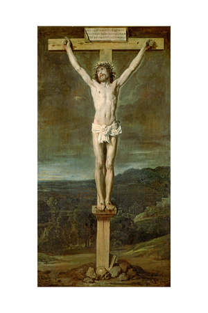 Christ Alive on the Cross at Calvary, 1631 Giclee Print by Diego Rodriguez de Silva y Velazquez