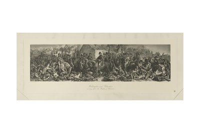 Wellington and Blücher Meeting after the Battle of Waterloo, 1815, by Lumb Stocks (1812-92) Giclee Print by Daniel Maclise
