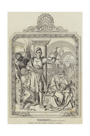 Chivalry of the Time of Henry V Giclee Print by Daniel Maclise