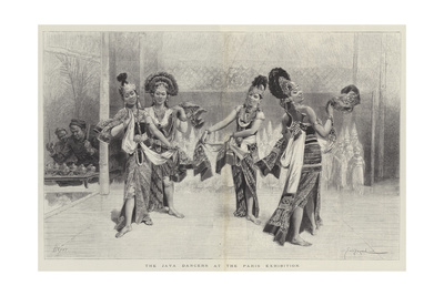 The Java Dancers at the Paris Exhibition Giclee Print by Emile Antoine Bayard