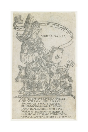 The Samian Sibyl: Broad Manner, 1485-1500 Giclee Print by Francesco Rosselli