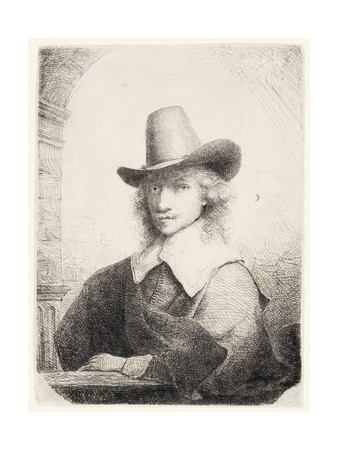 Man in High Hat, C.1645-50 Lámina giclée por Ferdinand Bol
