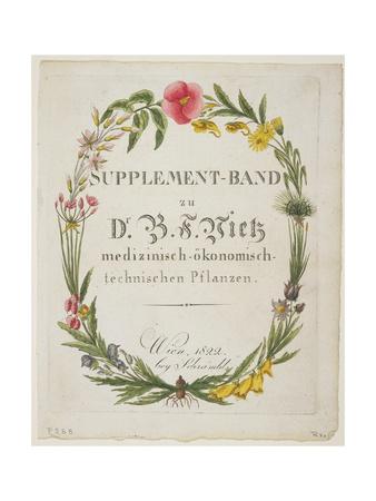 Frontispiece and Title Page to Supplement-Band Zu Dr. B. F. Vietz Medizinisch-Okonomisch-Technische Giclee Print by Ferdinand Bernhard Vietz