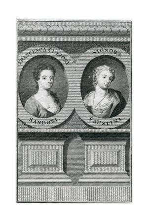 Double Portrait of Francesca Cuzzoni (1696-1778) and Faustina Bordoni (1697-1781) Giclee Print by Enoch Seeman