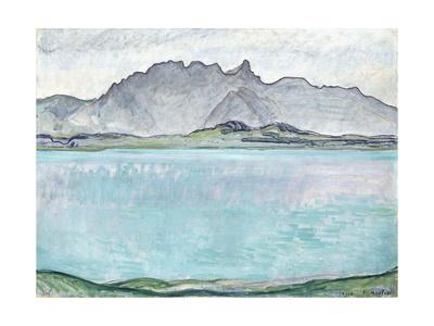 Thunersee with the Stockhorn Mountains, 1910 Gicléetryck av Ferdinand Hodler