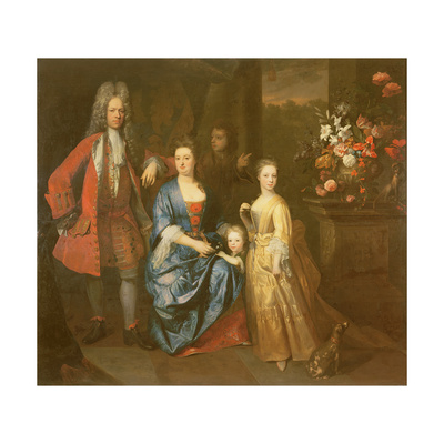 Colonel Andrew Bissett and His Family, 1708 Giclee Print by Enoch Seeman
