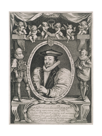 Portrait of John Williams (1582-1650) Bishop of Lincoln and Dean of Westminster Giclee Print by Francis Delaram
