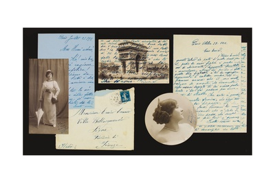 Personal Archives of Correspondence, 1897-1908, 1912-21 (Pen and Ink on Paper, B/W Photo) Giclee Print by Enrico Caruso