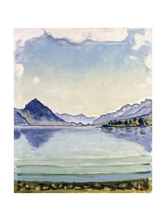 Thunersee at Leissingen, 1909 Gicléetryck av Ferdinand Hodler