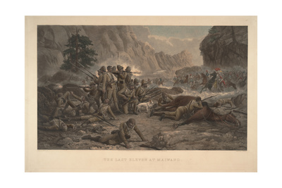 The Last Eleven at Maiwand, 1884 Giclee Print by Frank Feller