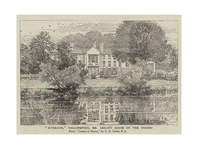 Riverside, Wallingford, Mr Leslie's House on the Thames Giclee Print by George Dunlop Leslie