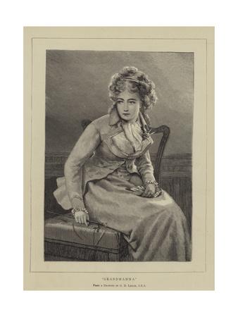 Grandmamma Giclee Print by George Dunlop Leslie