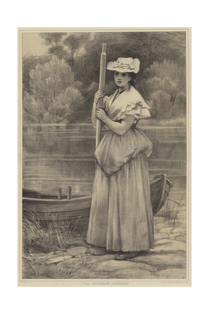 The Ferryman's Daughter Giclee Print by George Dunlop Leslie