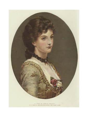 A Type of Female Beauty Giclee Print by George Dunlop Leslie
