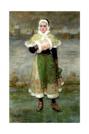 A Dutch Skater Giclee Print by George Henry Boughton