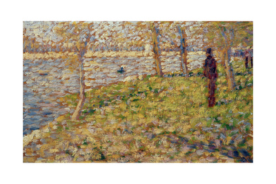 Study for 'Sunday Afternoon on the Island of La Grand Jatte', 1884-85 Giclee Print by Georges Seurat