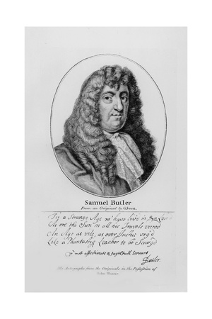 Portrait of Samuel Butler (1612-80) with an Sample of His Handwriting Giclee Print by Gerard Soest