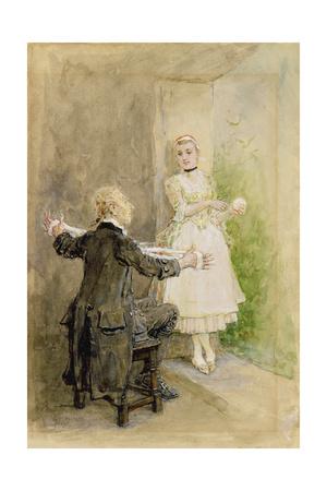 Ichabod Crane and Katrin Van Tassel, C.1893 Giclee Print by George Henry Boughton