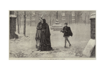 Christmas Morning in the Olden Time Giclee Print by George Henry Boughton