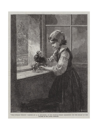 The Cottage Window Giclee Print by George Henry Boughton