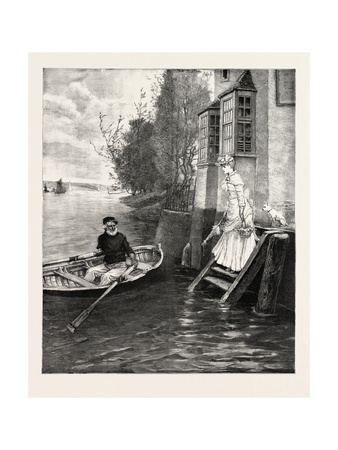 The Ferry, a Dainty Fare, 1890 Giclee Print by George Henry Boughton