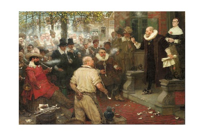 The Smokers' Rebellion (The Edict of William the Testy) Giclee Print by George Henry Boughton