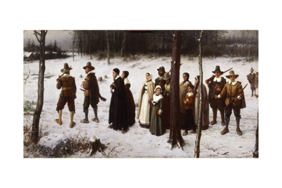 Pilgrims Going to Church, 1867 Giclee Print by George Henry Boughton