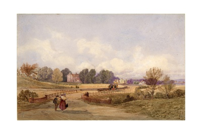 The Stage Coach Road (Northumberland) (Bodycolour, Pencil and W/C on Paper) Giclee Print by George Richardson