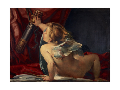 Cupid (Cut from a Larger Picture) Giclee Print by Giulio Cesare Procaccini