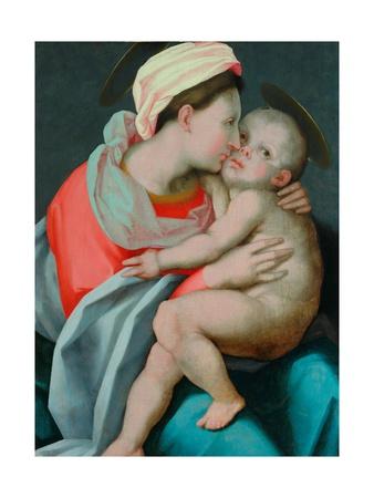 Madonna and Child Giclee Print by Giovanni Battista Rosso Fiorentino