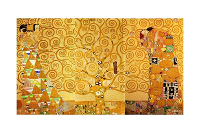 Detail of 'The Stoclet Frieze', 1905-09 Giclée-tryk af Gustav Klimt