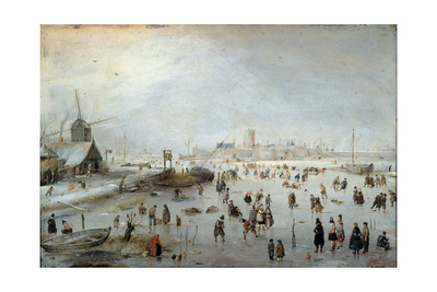 Winter Landscape, Early 1620s Giclee Print by Hendrik Avercamp