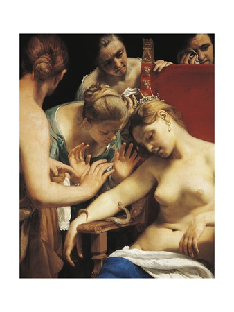 Death of Cleopatra, Circa 1660 Giclee Print by Guido Cagnacci