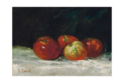 Red Apples, 1872 Giclee Print by Gustave Courbet