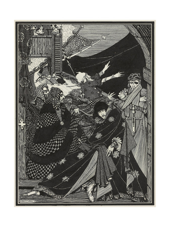 Message Found in a Bottle, 1918 (Pencil, Pen and Black Ink, on Vellum) Giclee Print by Harry Clarke