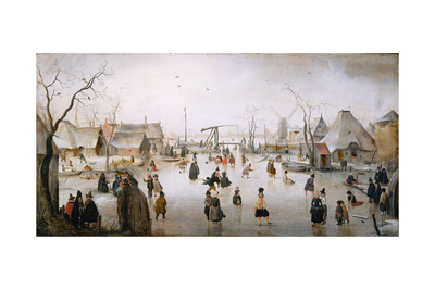 Ice Sports, C.1610 Giclee Print by Hendrik Avercamp
