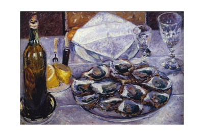 Still Life with Oysters, 1881 Giclee Print by Gustave Caillebotte