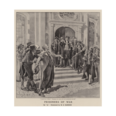 Prisoners of War Giclee Print by Henry Gillard Glindoni