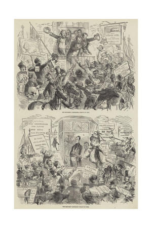 The Election of 1852 Giclee Print by Hablot Knight Browne
