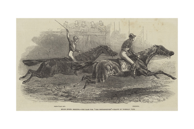 Epsom Spring Meeting, the Race for The Metropolitan Giclee Print by Harrison William Weir