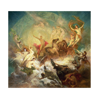 Victory of Light over Darkness, 1883-84 Giclee Print by Hans Makart