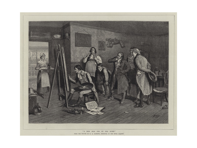 A New Sign for an Old Score Giclee Print by Henry Gillard Glindoni