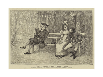 Two's Company, and Three's None Giclee Print by Henry Gillard Glindoni