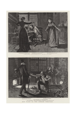 New Plays at the London Theatres Giclee Print by Henry Gillard Glindoni