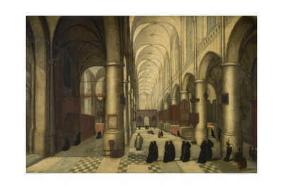 St. Pieters at Louvain, a Christening Party Giclee Print by Hendrik van Steenwyck