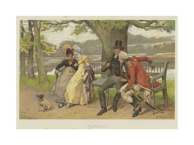 Flirtation Giclee Print by Henry Gillard Glindoni