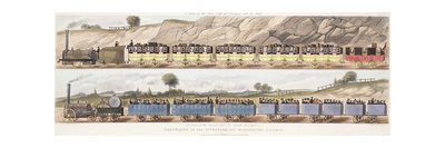 A Train of the First Class of Carriages with the Mail and a Train of the Second Class for Outside P Giclee Print by Isaac Shaw