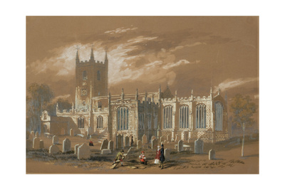 St John's Church, Newcastle, 1848 (Bodycolour, Pencil and W/C on Paper) Giclee Print by Isaac Shaw
