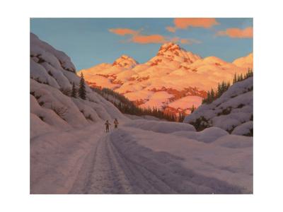 Cross-Country Ski-Ing, Haute Savoie Giclee Print by Ivan Fedorovich Choultse