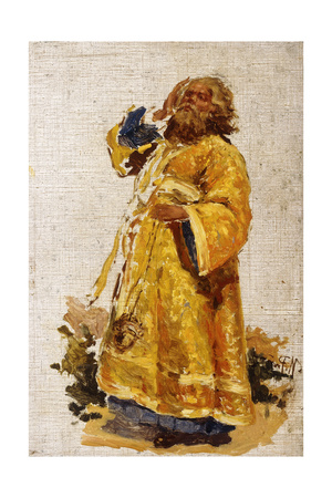 Study of the Deacon for the Painting 'The Religious Procession in the Province of Kursk' (1880-3) Giclee Print by Ilya Efimovich Repin